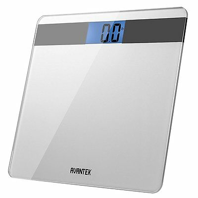 AVANTEK LCD Precision Digital Bathroom Weighing Scale with Step-On Technology