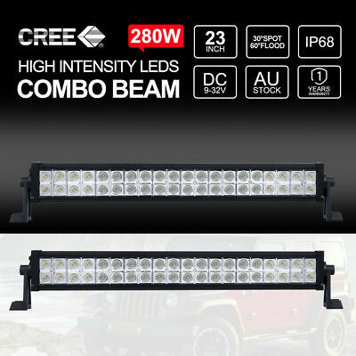 """2x 280W 23 Inch Philips LED Light Bar Combo Offroad 4WD Work Driving Lamp 22"""""""