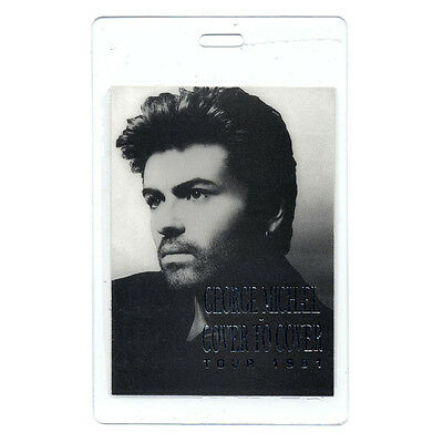 George Michael authentic 1991 tour Laminated Backstage Pass