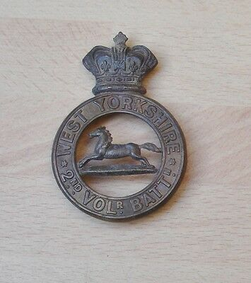 2nd West Yorkshire glengarry badge in brass