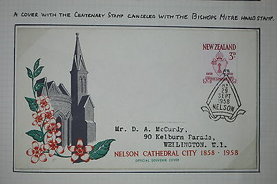Postmarks of New Zealand - NELSON on 1958 first day Cover- Lot k1232