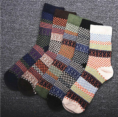 5/10 Pairs Men Warm Winter  Casual Dress Thick Wool Angora Cashmere Soft Socks