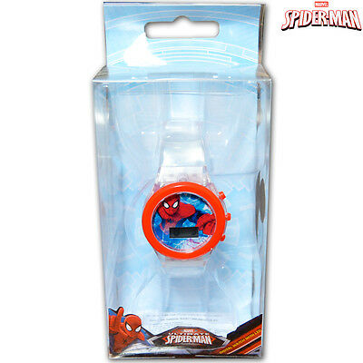 Orologio Digitale da Polso Spiderman Con Luce LED in Scatola Regalo Marvel Kids