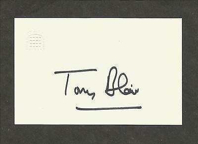 Hand Signed Official House of Commons Card TONY BLAIR British Prime Minister