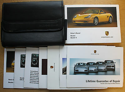 Porsche Boxter / S Handbook Owners Manual 2000-2004 Pack 12735