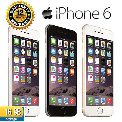 "Apple iPhone 6 ""16GB"" No fingerprint sensor  Factory Unlocked /iPhone 3G CO99"