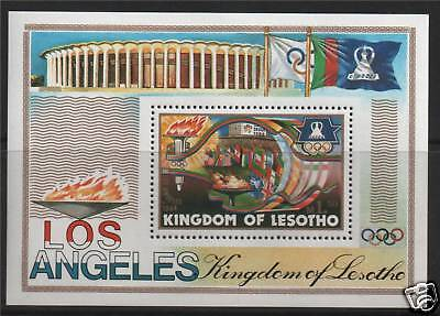 Lesotho 1984 Olympic Games MS SG 595 MNH