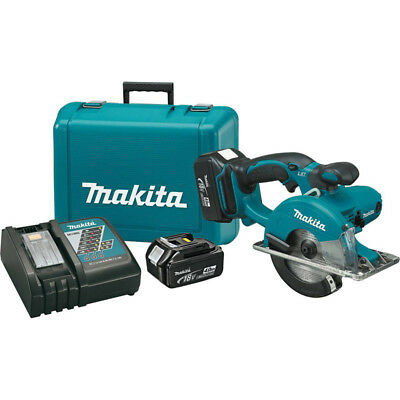 Makita LXT 18V 4.0 Ah Li-Ion 5-3/8 in. Metal Cutting Saw Kit XSC01MB New