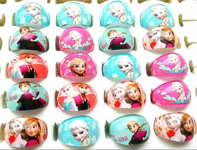 2pcs Resin Rings Kids Children Cartoon frozen mickey minions lot more Party Gift