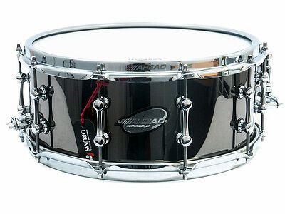 "Ahead 14"" x 6"" Black on Brass Snare Drum"