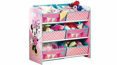 HelloHome Minnie Mouse Kids Storage Unit / Toy Organiser for Bedroom or Playroom
