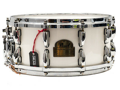 """Pearl 14"""" x 6.5"""" Dennis Chambers Signature Snare Drum In Pearlescent White Lacqu"""
