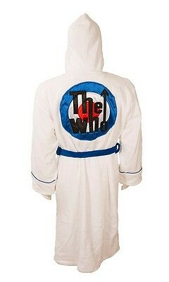 THE WHO TARGET LOGO WHITE BATHROBE / Dressing Gown - New & Official With Tag