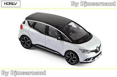 NEW Renault Scenic de 2016 White & Black NOREV - NO 517731 - Echelle 1/43