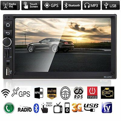 "Android 4.4 GPS CAR In-Dash 7"" HD 2 Din MP3 MP5 Player Stereo Radio Bluetooth UK"