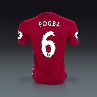 Manchester United 6 pogba Home Soccer Jersey Sz:L