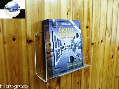 Wall Magazine Brochure Book Paper Card Holder Stand Easel Display Rack Mount