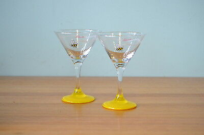 Vintage Martini glasses  bees Panache cocktail glass GT1A