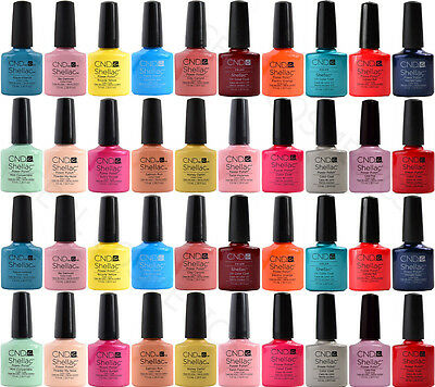 CND Shellac UV LED Smalti Tutti i Colori Disponibili Top Base 7,3ml 12,5ml 15ml