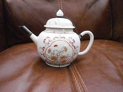 300 Year Old Antique Chinese Porcelain Teapot, Qianlong Period. 1711-1799. Rare.