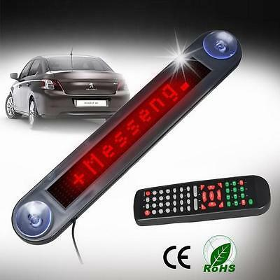 Car 12V RED LED Message Sign Programmable Moving Scrolling Board with remote Z ぱ