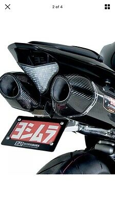 Yoshimura R77 Carbon Slip On Dual Exhaust End Cans Yamaha R1 2009-2014 14B