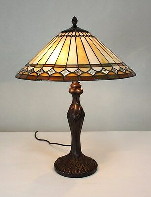 """16"""" (40cm) Large Genuine Stained Glass Tiffany mission style table Lamp"""