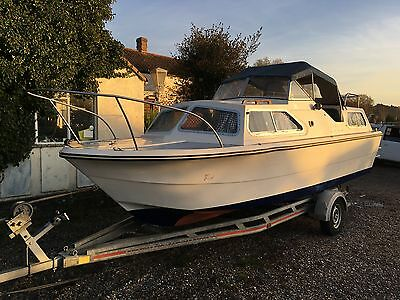 Norman Conquest Twin Cabin Cruiser + Yamaha 9.9Hp Four Stroke Outboard