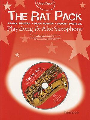 The Rat Pack Playalong for Alto Saxophone Music Book/CD Guest Spot