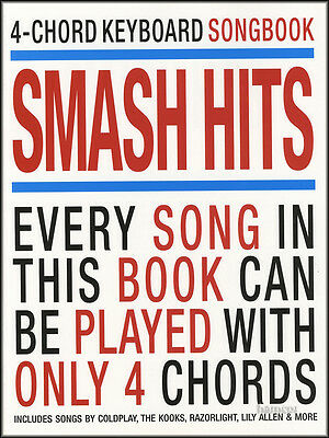 4-Chord Keyboard Songbook Smash Hits Sheet Music Book Coldplay Kooks Razorlight