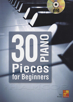30 Piano Pieces for Beginners Sheet Music Book/CD