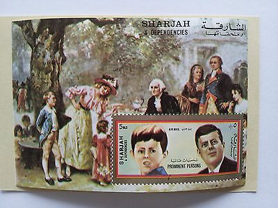 Sharjah and Dependencies Stamp Minisheets John F Kennedy