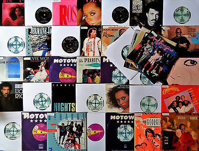 MOTOWN VINYL 45's LOT Soul Funk Diana Ross Mary Jane Girls Lionel Richie Debarge