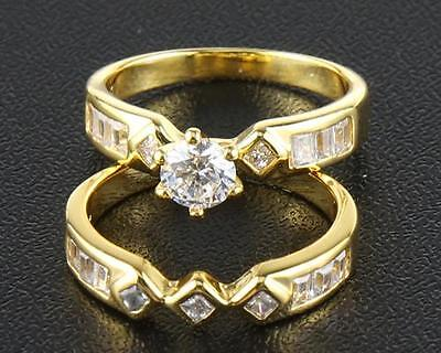 Fine Natural Diamond  Double  Ring  1.82 Carat In 14kt Solid Yellow  Gold SZ8