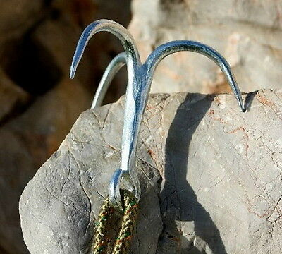 Steel Carabiner Climbing Claw Grappling Hook Mountaineering Wild Escape PAS ぱ