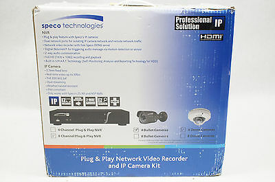 NEW Speco Technologies 8-Ch Plug & Play Network Video Recorder & IP Camera Kit
