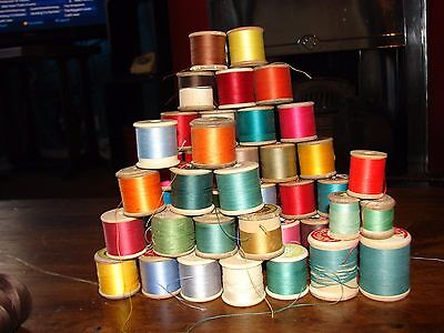 Job Lot of Sylco Barbours Coats and other Vintage Thread/Cotton Reels