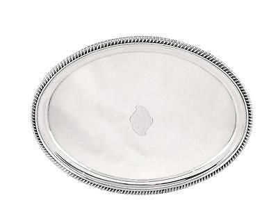 Antique Georgian Sterling Silver Card Tray 1807