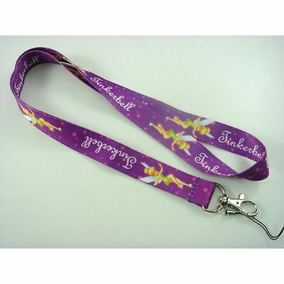 Tinkerbell Neck Lanyard Mobile Phone Strap. Keys. Id Cards. Gift. Purple. Tink.