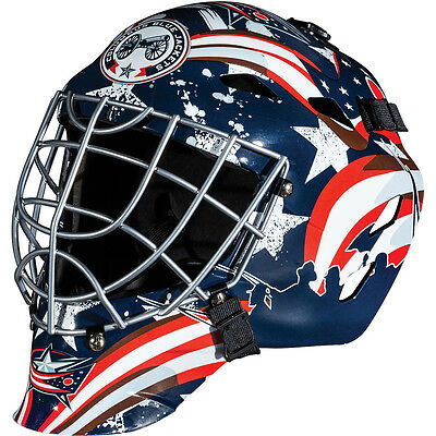 Franklin Sports GFM 1500 NHL Columbus Blue Jackets Goalie Face Mask