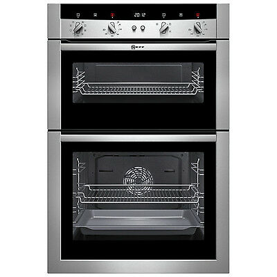 Neff U15M52N3GB Double Built-in Electric Oven, Stainless Steel (2)