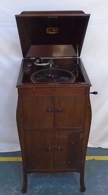 His Master's Voice Floor-standing Gramophone - Good Working Condition