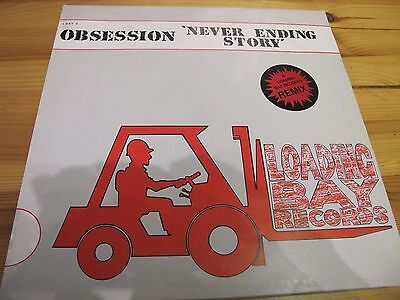 "Lbay-9R Uk 12"" 45Rpm 1990 Obsession ""never Ending Story"" Ex"