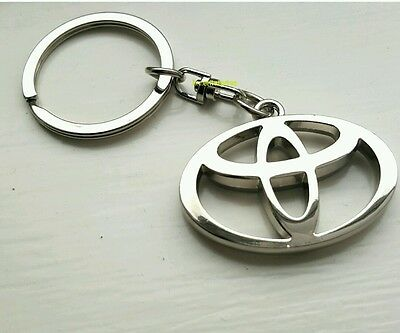 Toyota Key Ring - NEW - UK Seller - Silver - Car Keyring