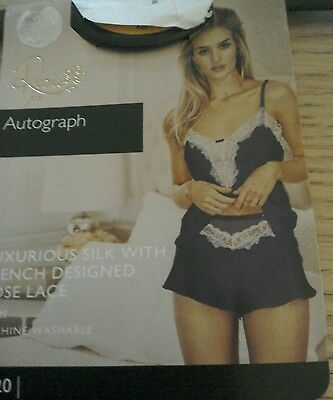 Marks And Spencer Rosie For Autograph Silk/ Lace Camisole  Size 16 Bnwt