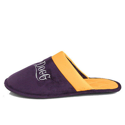 Snoop Dogg House Slippers Mens Purple/Yellow
