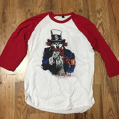 PEARL JAM - No Clowns In 16 T-SHIRT Size XL 2016 nyc msg philly philadelphia WOW