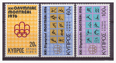 """Cyprus 1976 Complete Set """"montreal Olympic Games"""" Mnh**"""