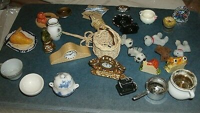 collection of dolls house items