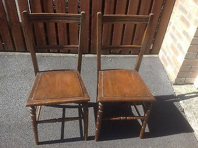 2 Antique/vintage Chairs Ideal For Restoration/ Upcycling Project Pick Up Cf46